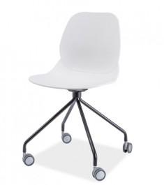Krzesło z polipropylenu na kółkach Alfio