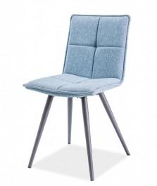 Krzesło do jadalni na metalowych nogach Dario