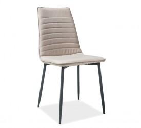 Tapicerowane krzesło na metalowych nogach Tomas