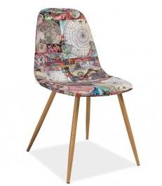 Nowoczesne krzesło z motywem mapy Citi
