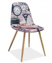 Nowoczesne krzesło z motywem Paryża Citi