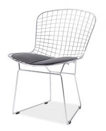 Designerskie krzesło na chromowanym stelażu Fino