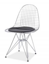 Krzesło z poduszką na chromowanym stelażu Intel