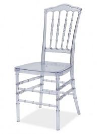 Krzesło transparentne z poliwęglanu Loris