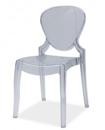 Transparentne krzesło z poliwęglanu Elmo