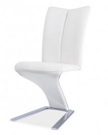 Krzesło z ekoskóry na wygiętej nodze H040