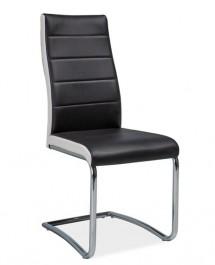 Tapicerowane krzesło na płozach H353