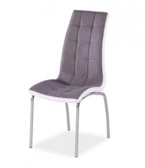 Pikowane krzesło tapicerowane tkaniną H104