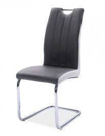 Krzesło z uchwytem tapicerowane ekoskórą H342