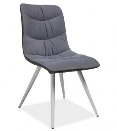 Tapicerowane krzesło na metalowych nogach Evita