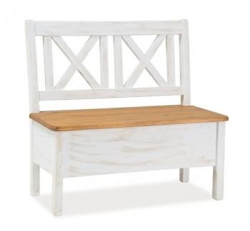 Drewniana ławka ze schowkiem Poprad