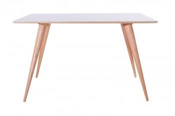 Stół na drewnianych nogach Planet prostokątny