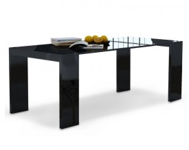 Rozkładany stół i biurko 2w1 Lille w wysokim połysku