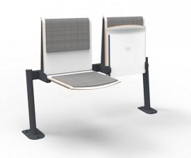 Tapicerowana ławka 2-osobowa do sali językowej L2 TPS1U T