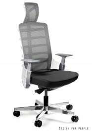 Fotel biurowy z zagłówkiem Spinelly 999W biały