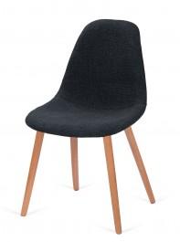 Tapicerowane krzesło do jadalni Plush grafit