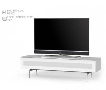 Szafka RTV ST360 WHT z białym frontem