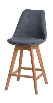 Tapicerowany stołek barowy z poduszką Norden Wood Low
