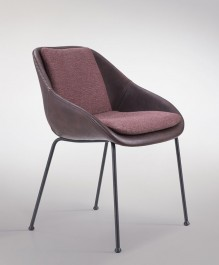 Tapicerowane krzesło z poduszką Poter Soft M