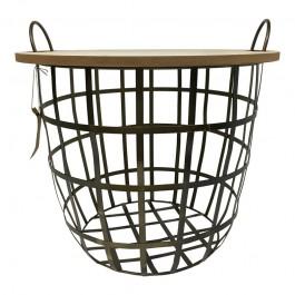 Designerski stolik ze zdejmowanym blatem Cut