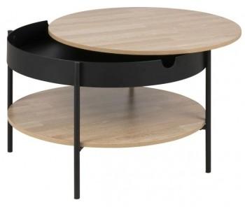 Nowoczesny stolik z półką i zdejmowanym blatem Tipton Big