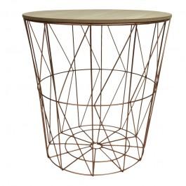 Nowoczesny stolik kawowy Web złoty