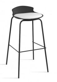 Nowoczesny stołek barowy Duke czarny