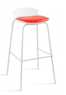 Nowoczesny stołek barowy Duke biały