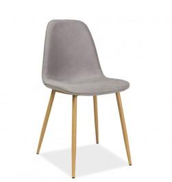 Tapicerowane krzesło do jadalni z lamówką Dual