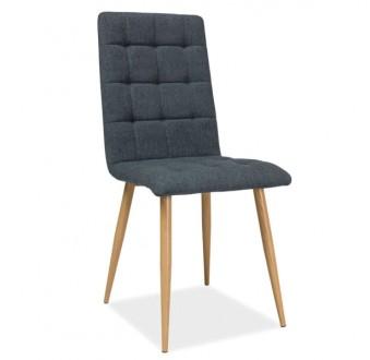 Pikowane krzesło do jadalni Otto stelaż dębowy