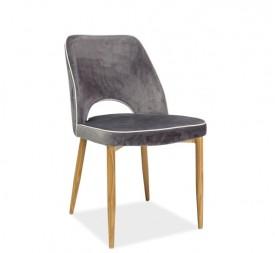 Krzesło do jadalni tapicerowane aksamitną tkaniną Verdi
