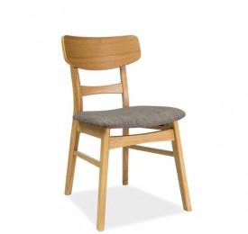 Drewniane krzesło z tapicerowanym siedziskiem CD-61