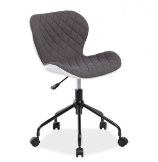 Pikowane krzesło obrotowe z białym tyłem Rino
