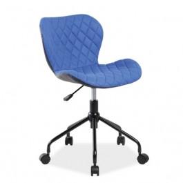 Pikowane krzesło obrotowe z czarnym tyłem Rino