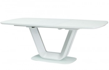 Rozkładany stół do jadalni ze szklanym blatem Armani 160x90 cm