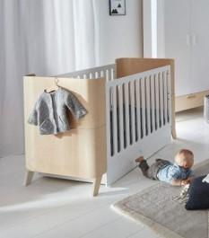 Łóżeczko dziecięce z szufladą i funkcją tapczanika 70x140 Hoppa
