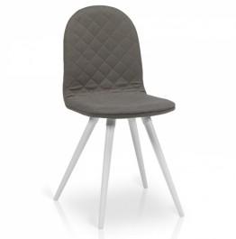 Pikowane krzesło do jadalni Foglio
