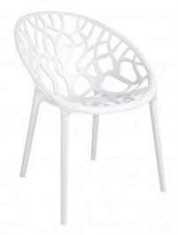 Designerskie białe krzesło Koral