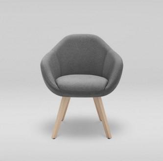 Tapicerowany fotel na drewnianych nogach Tulo 4N