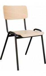 Krzesło na metalowym stelażu Ewa