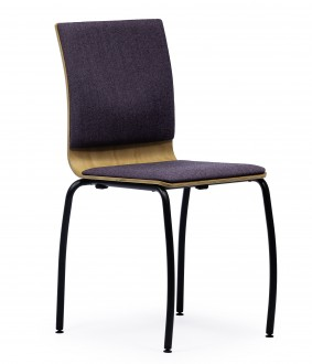Krzesło sklejkowe z tapicerowanym siedziskiem Joanna S40