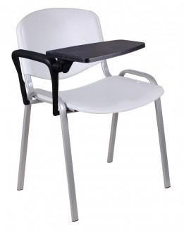 Krzesło konferencyjne z tworzywa ISO Nov z pulpitem