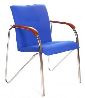 Krzesło z drewnianymi nakładkami Simba