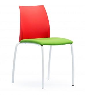 Krzesło konferencyjne z tapicerowanym siedziskiem Tango S40