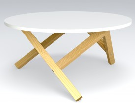 Designerski stolik kawowy Hexflame w stylu skandynawskim