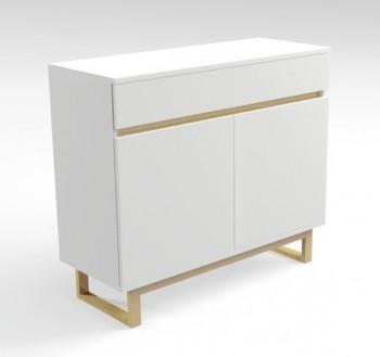 Komoda biała z szufladą Deskom3/1 w stylu skandynawskim