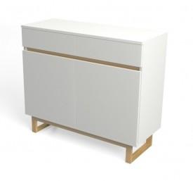Komoda biała z szufladami Deskom3/2 w stylu skandynawskim