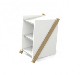 Kontenerek biurkowy Nofall 1 w stylu skandynawskim