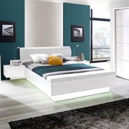 Białe łóżko do sypialni 163 Starlet White z wkładem