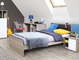 Łóżko młodzieżowe 1091 Sirsey z wkładem